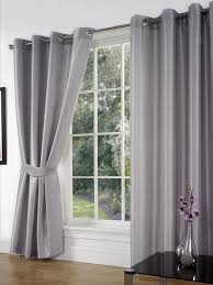 sw living faux silk pair curtains eyelet ring top heading lined inc tiebacks co uk kitchen home