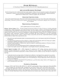 Application Support Analyst Sample Resume by Career Objective Examples For Technical Support Inspiredshares Com