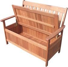 details about outdoor wooden 2 seater w storage garden bench