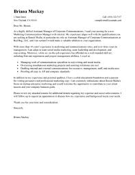 manager assistant cover letter