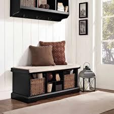 crosley furniture brennan entryway storage bench multiple colors