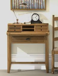 Secretary Style Computer Desk by Oak Desks Oak Computer Desks Oak Furniture Uk