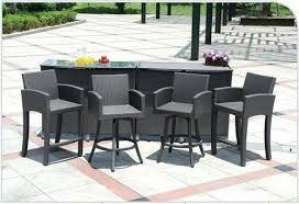 Tall Patio Set by Patio Furniture Bar Height Dining Set Bar Set Outdoor Patio