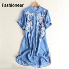 knee length denim dresses for summer online knee length denim