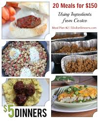 Cheap Easy Dinner Ideas For 2 20 Meals Using Ingredients From Costco For 150 U2013 Meal Plan 2