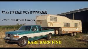 very rare winnebago barn find 1973 winnebago 5th wheel u0026 making a
