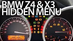 how to enter hidden menu in bmw z4 e85 e86 u0026 x3 e83 service
