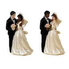 figurine mariage mixte mariés mixte accessoires fleurs de dragées