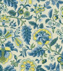 decorator fabric richloom blooming flowers botanical fabric