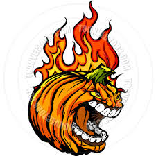 halloween pumpkin cartoons screaming halloween jack o u0027 lantern pumpkin head with flames for