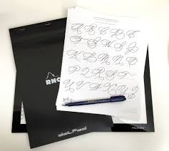 tracing paper for writing practice practice brush lettering with cursive handwriting worksheets materials needed to trace cursive worksheets lightpad rhodia dot pad zebra brush pen