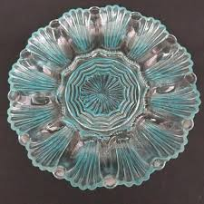 small deviled egg plate this small sized shimmery turquoise colored egg plate for deviled