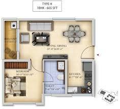 1bhk floor plan salarpuria divinity apartments at mysore road bangalore