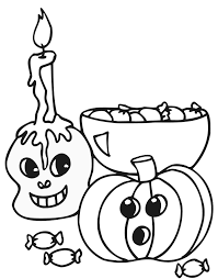 halloween candy coloring coloring pages kids