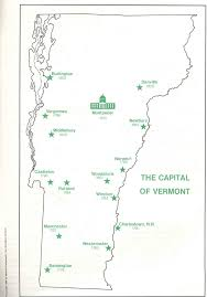 Map Of Vermont Towns The Historical Geography Of Vermont