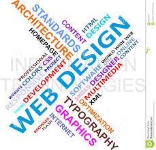 word design word cloud web design stock photo image 26572810