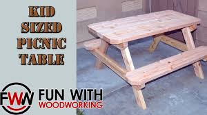 Plans For A Wood Picnic Table by Project How To Build A Kid Sized Picnic Table Out Of 8 2x4 U0027s