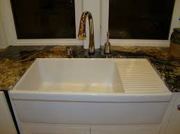 kitchen pretty farmhouse kitchen sinks with drainboard sink and
