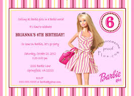 Birthday Invitation Card Download Barbie Birthday Invitation Templates Invitation To Edit And
