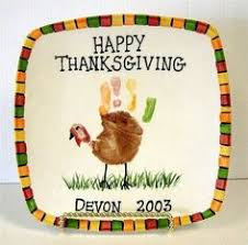 thanksgiving handprint footprint canvas craft kid craft ideas