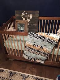 Nature Themed Crib Bedding Baby Quilt Handmade Crib Quilt Baby Boy Quilt Baby Shower Gift
