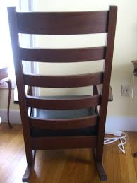 Mission Style Rocking Chair I Have A Mission Style Rocking Chair With 5 Horizontal Slats In