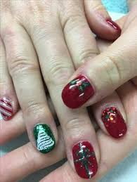 christmas red glitter u0026 chunky glitter gel nails all done with