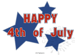 clip art kid happy 4th of july stars coloring page