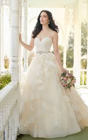 a line wedding dress strapless a line wedding gown with sweetheart bodice martina liana