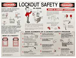 brady laminated lockout safety poster industrial lockout tagout