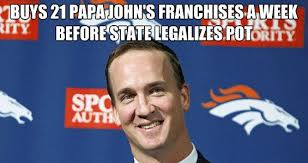 Peyton Memes - photos peyton manning s pot and pizza comment proves meme makers