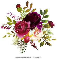 burgundy flowers watercolor flowers stock images royalty free images vectors