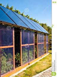 eco glass house with solar panels stock photo image 73318925