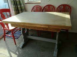 dining table vintage shabby chic extending wood in