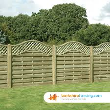 omega lattice top fence panels 6ft x 6ft brown berkshire fencing