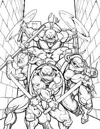 teenage mutant ninja turtles alley coloring enjoy
