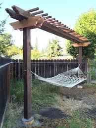 hammock arbor yard pinterest arbors