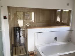 sauna im badezimmer badezimmer sauna fexibel glasfront verfliest dekorverkleidung