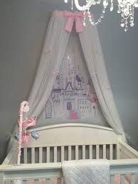 Light Pink Curtains by Crib Canopy Princess Bed Crown Nursery Light Pink Petite Bows Free