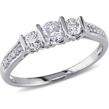 Engagement Ring With Wedding Band by Wedding Rings Three Stone Engagement Ring With Wedding Band 3