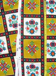 vintage fabric mid century fabric remnant 1960s 1970s retro