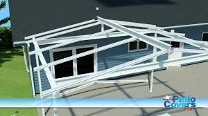 Patio Cover Plans Free Standing by Gable Freestanding Full Install Youtube