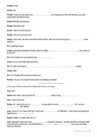 Halloween Comprehension Worksheets Friends Tow The Halloween Party Season 8 Episode 6 Worksheet