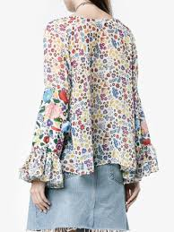 print blouses all things mochi lena floral print blouse blouses browns