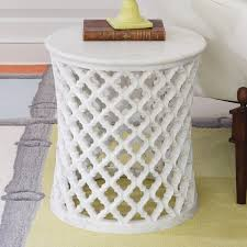 global views furniture marble arabesque side table