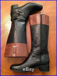 womens black knee high boots size 11 s size 11 black brown genuine leather knee high