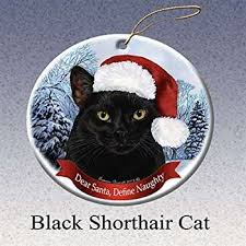 1 x tiny ones black cat ornament w scarf by