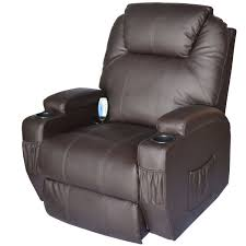 movie chairs for home theaters amazon com homcom heating vibrating pu leather massage recliner