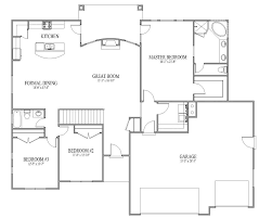 Garage Home Floor Plans by 51 House Pland Interesting 80 4 Bedroom House Designs