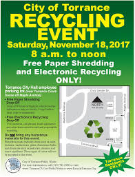 recycling events recycle torrance